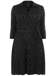 evans spot print dress