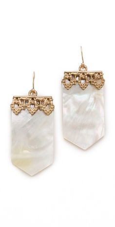 mother of pearl drop earrings by lulu frost