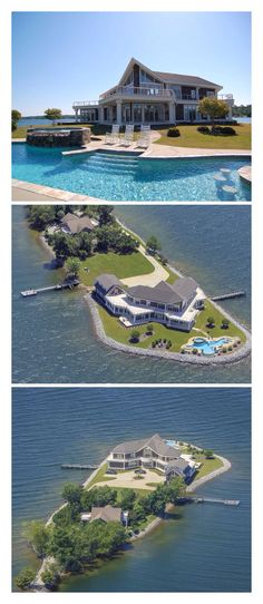 Luxury Mansions on private island House Goals, My Dream Home, Dream Homes, Luxury Homes Dream Houses, Future House, Beautiful Homes, House Ideas, Island, Vacation