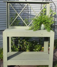 Beautiful Potting Benches at Lowes