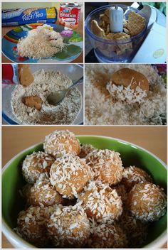 I know this in Chile! The recipe is: Manjar (known as dulce de leche) Vainilla cookies Coconut I love them Coffee Cake Cookies, Chilean Recipes, Chilean Food, Healthy Fridge, Delicious Desserts, Dessert Recipes, Yummy Food, Spanish Dishes, Comida Latina