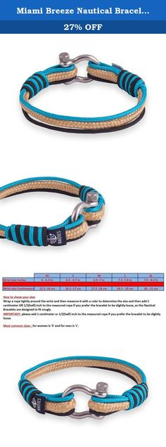 Miami Breeze Nautical Bracelets By U.S. Nautics- Beautiful Bracelets Made of Yachting Rope- Wide Variety of Different Designs & Colors-With Stainless Steel Buckle- Great Gift Idea For Men & Women (Extra Small). Wear Your Nautical Bracelet & Welcome On Board - Let's Set Off For Summer! Do you search for a beautiful accessory that matches with the year's most beloved season, summer? Are you passionate with sea, water activities, and all marine/sailing stuff? Of course, who isn't! Meet The...