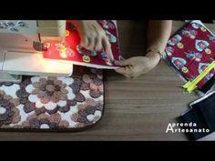 Como Fazer Bolsa de Tecido Estruturada | Artesanato Passo-a-Passo - YouTube