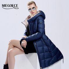 Goedkope MIEGOFCE 2016 womens winter down jassen vrouwen Hoge Kwaliteit Warm Vrouwelijke verdikking Warme Parka Kap Over Jas, koop Kwaliteit Naar beneden parka's& rechtstreeks van Leveranciers van China: