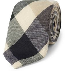 Alexander Olch Plaid Cotton Tie | MR PORTER