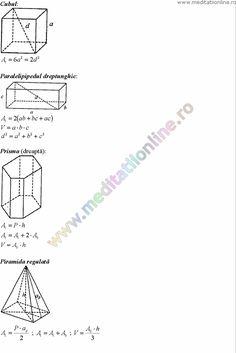 Formule matematica gimnaziu 5 8 Formule si teorie Geometrie plana si in spatiu si Trigonometrie pagina 12 Maths, Desktop, Chart, School, Geometry, Studying