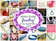 Fiber Flux: Fabulous Crochet Jewelry!  30 Free Crochet Pattern...