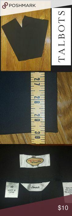 TALBOTS BLACK DRESS PANTS SZ 1O GREAT PANTS. PLEASE FEEL FREE TO MAKE AN OFFER!! Talbots Pants Straight Leg