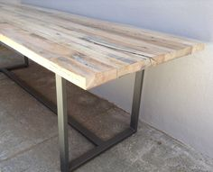 Reclaimed Wood Rustic Industrial Modern Farmhouse Style Indoor / Outdoor Dining Table / Coffee Table by KageDesignStudio on Etsy https://www.etsy.com/listing/159111546/reclaimed-wood-rustic-industrial-modern