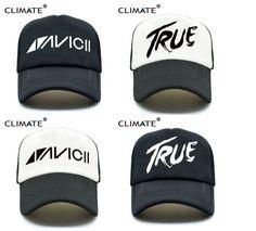 7bf6662079591 CLIMATE Men Women New Trucker Caps AVICII TRUE Hot Music DJ Caps Hot  Summer. Avicii TrueBaseball CapMen ...