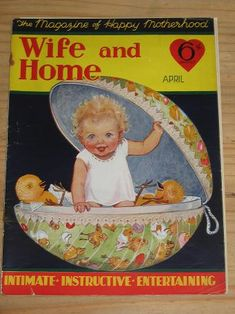 WIFE AND HOME April 1931. BLOOM. Vintage magazine for sale. Classic images of the twentieth century,