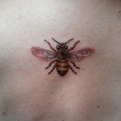 My newest tattoo. My daughter has the same honeybee tattoo on her shoulder, great mother daughter tattoo!!  We both love honeybees and how beautiful, busy and industrious they are.  But we have to save this preciuos resource!!!! Plant bee friendly flowers and use organic and safe methods for garden pest control!