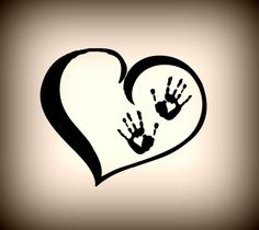 If I'd get a tattoo today, it would be this one. With the handprints of my loved ones!