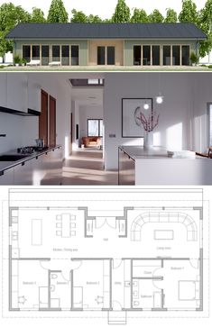 House Plan, Home Plan, Floor Plan, Architecture Contemporary House Plans, Modern House Plans, Small House Plans, House Floor Plans, New House Plans, House Blueprints, Prefab Homes, House Layouts, Bungalows