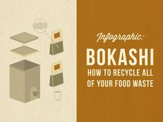 Bokashi Composting – How to Recycle All of Your Food Waste Composting At Home, Take A Quiz, Bokashi, Food Waste, Infographic, Recycling, Environment, Earth, America