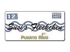 Puerto Rico Kennzeichen mit Wunschtext bedruckt - Hausnummern und Schilder online kaufen