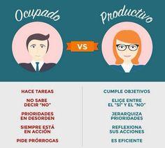 Ocupado vs productivo
