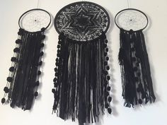 dream catcher/ wall hanging/ dreamcatcher/ big dreamcatcher/ Purple Dream Catcher, Dreamcatchers, Color Negra, Hippy, Big, Wall, Crafts, House, Lace
