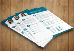 Elegant Resume - one page resume - Word resume template - Photoshop resume template --CV-004 by TemplateStock on Etsy