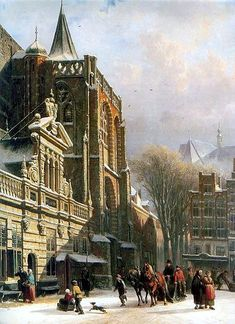 Zwolle sint michaelskerk in Zwolle by Cornelis Springer 1862