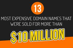 That's right! Domain name is as cheap as $5 and if chosen carefully, will bring you a fortune. If you too are wondering about the same question, then below is the premium domain names list, which comprises of the names that were sold for more than $10 million.