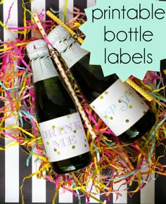 Party Contributor: Printable Bottle Labels ~ Sugar Bee Crafts