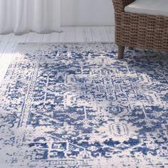 Mistana Burgaw Oriental Blue/Beige Area Rug