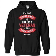 Veteran - Wonder Woman in Red Color T-Shirts & Hoodies