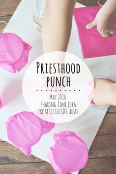 The Priesthood has been restored. Play Priesthood Punch! This fun Sharing Time game idea will go along great with the idea given in the 2016 LDS Sharing Time Outline.
