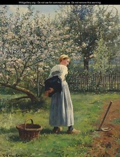 In The Orchard - Daniel Ridgway Knight