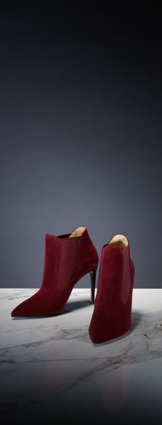 The sexy suede tallen ankle boot is a chic accent for any fall look from Ralph Lauren Black Label