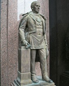 Statue of Anson Jones, 5th and last president of the Republic of Texas, a master diplomat who guided Texas to annexation as the 28th state in the Union.