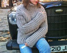 Super Chunky Sweater / Wollpullover / von moodbymood auf Etsy