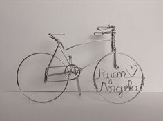CRUISING TOGETHER: Personalized Cruiser Bike Wedding Cake Topper, $35.00