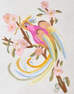 Birds of Luck - Vain - Silk Embroidery
