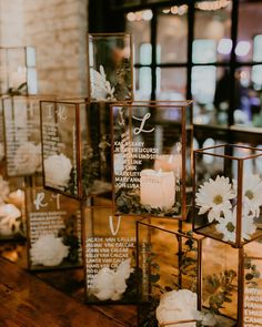 "who needs escort cards when you can have this?✨ I'm working on adding a ""rentals"" page to the website and these copper + glass terrariums… Seating Chart Wedding, Seating Charts, Wedding Table, Fall Wedding, Wedding Fun, Wedding Dreams, Wedding Bells, Wedding Stuff, Wedding Flowers"