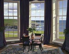 "De Edward Gordon  "" tea room "" ©    (  peintre americain  )"