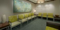 47 New ideas medical office interior waiting area Waiting Room Decor, Waiting Room Design, Office Waiting Rooms, Waiting Area, Medical Office Interior, Medical Office Design, Doctors Office Decor, Office Signs, Office Reception Area