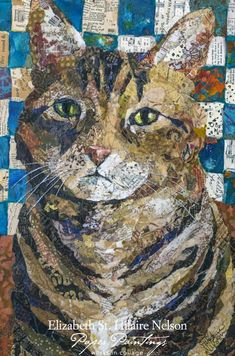"""Harley the Cat"" - collage by Elizabeth St. Paper Collage Art, Collage Artwork, Painting Collage, Collage Artists, Mixed Media Collage, Paper Art, Art Collages, Magazine Collage, Magazine Art"