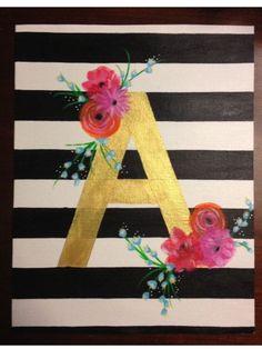 Easy canvas art inspiration.