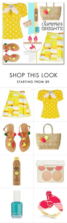 """""""Summer Brights"""" by sherri40 ❤ liked on Polyvore featuring Lilly Pulitzer, Forever 21, Becca, Essie, Kate Spade, Accessorize and summerbrights"""