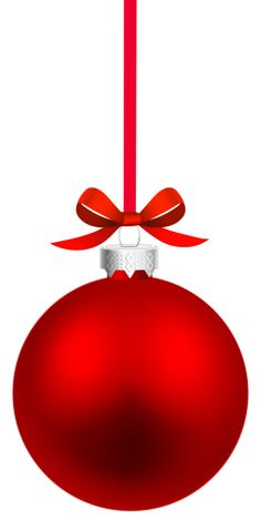 Red Hanging Christmas Ball PNG Clipart