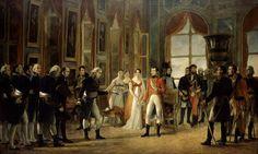 Napoleon recoit a Saint Cloud le Senatus consulte des Francais 18 Mai 1804.  Napoleón recibe en Saint Cloud el senadoconsulto que lo proclama emperador, el 18 de mayo de 1804 Óleo de Georges Rouget (1783-1869).