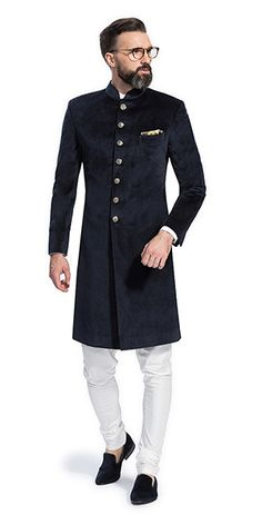 Make a style statement with our wide range of customized ethnic wear for men. View finely tailored custom made sherwani, bandhgala jacket and more at Herringbone & Sui. Indian Wedding Suits Men, Sherwani For Men Wedding, Mens Indian Wear, Mens Ethnic Wear, Mens Sherwani, Wedding Dress Men, Indian Men Fashion, Mens Fashion Suits, Engagement Dress For Men