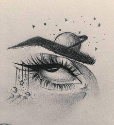 Dark Art Drawings, Pencil Art Drawings, Cool Drawings, Tree Drawings, Art Drawings Sketches Simple, Eye Art, Art Sketchbook, Drawing Eyes, Art Blog