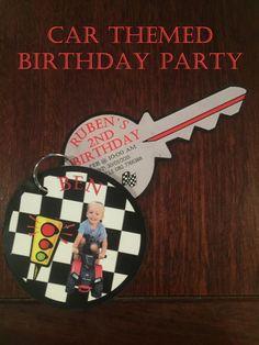 Car themed birthday party invitation by ThePurplePrint on Etsy https://www.etsy.com/listing/229166118/car-themed-birthday-party-invitation