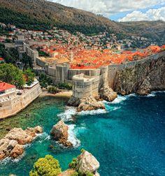 Walls of Dubrovnik, Croatia. This is the setting of King's Landing in Game of thrones in season 2 onwards. So this is Blackwater Bay.