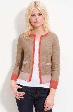 Juicy Couture Colorblock Crop Cardigan