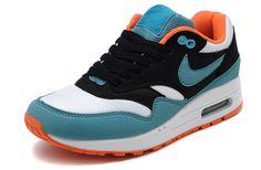 Nike Air Max 1 Donna Scarpe blu nere bianche arancio Air Max 1 4451970059f