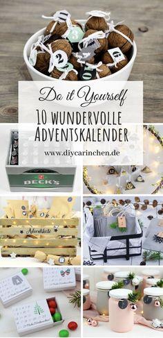 DIY - die 10 schönsten Adventskalender zum Selbermachen: DIY, basteln, selbermachen, Adventskalender, schnell, einfach und leicht, Weihnachtskalender, Adventskalenderzahlen, Weihnachten, Weihnachtsgeschenk, Geschenk, Geschenkidee, Anleitung, Tutorial #diy #basteln #selbermachen #christmas #weihnachten #adventskalender #adventcalender Advent Calendar, Christmas Diy, Holiday Decor, Projects, Diys, Diy Presents, Simple, Log Projects, Bricolage